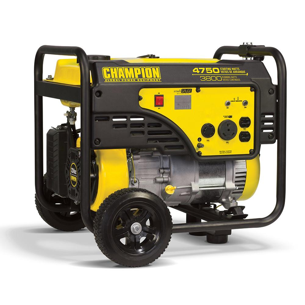 Champion 3800 Watt Rv Ready Portable Generator With Wheel Kit 4000 Wiring Generators 100103 Camping World