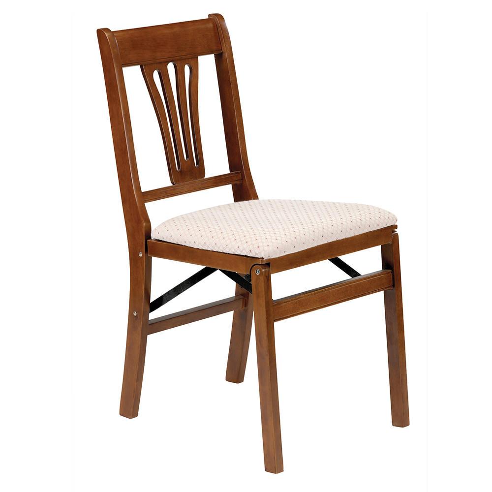Urn Back Folding Chair Fruitwood Meco Corp 0190 6h842