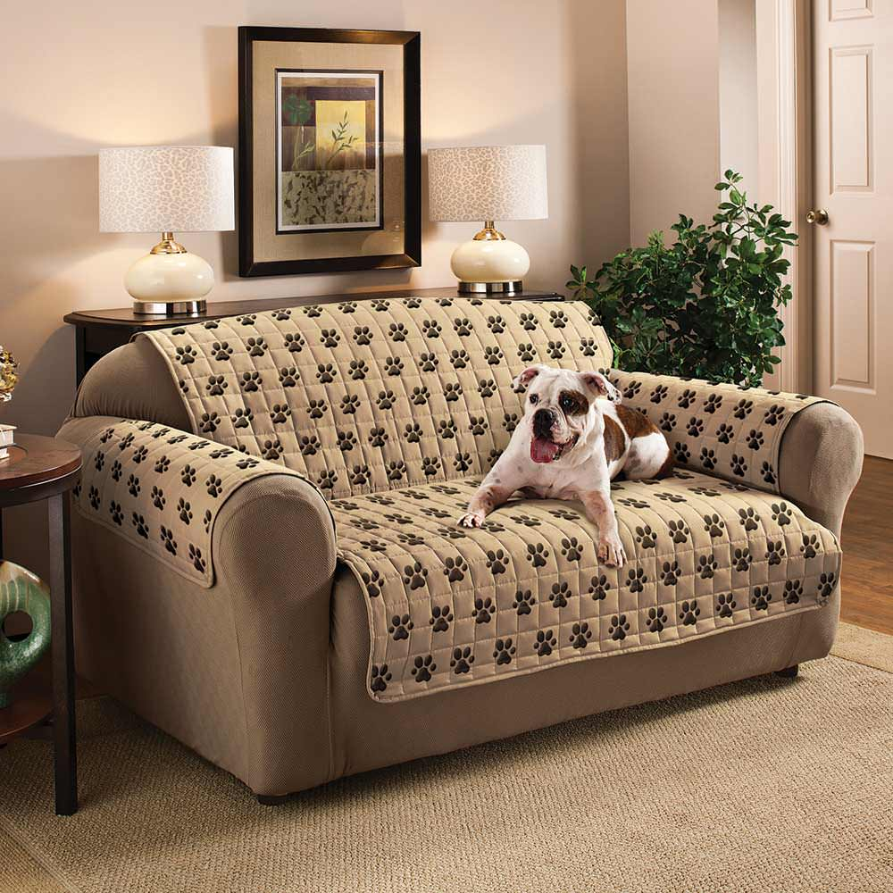 Paw Print Furniture Protector Loveseat Seat Width 46