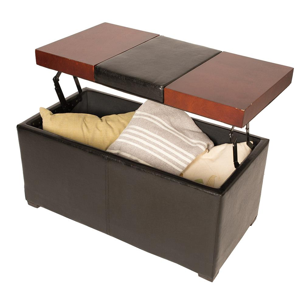Lift Top Coffee Table Ottoman Brown Enchanted Home Pet Co2886 16 Brn Furniture Camping World