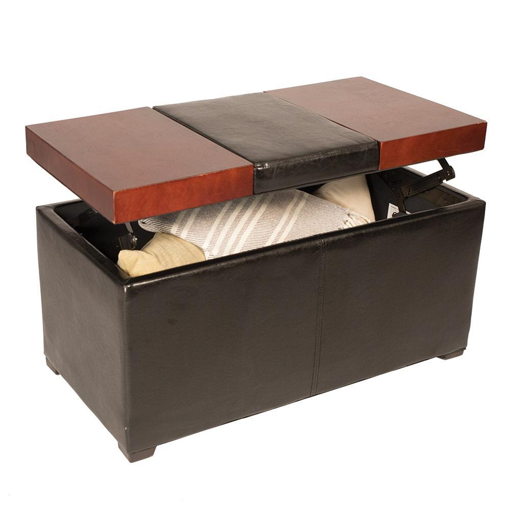... Lift-Top Coffee Table Ottoman, Brown ... - Lift-Top Coffee Table Ottoman, Brown - Enchanted Home Pet CO2886