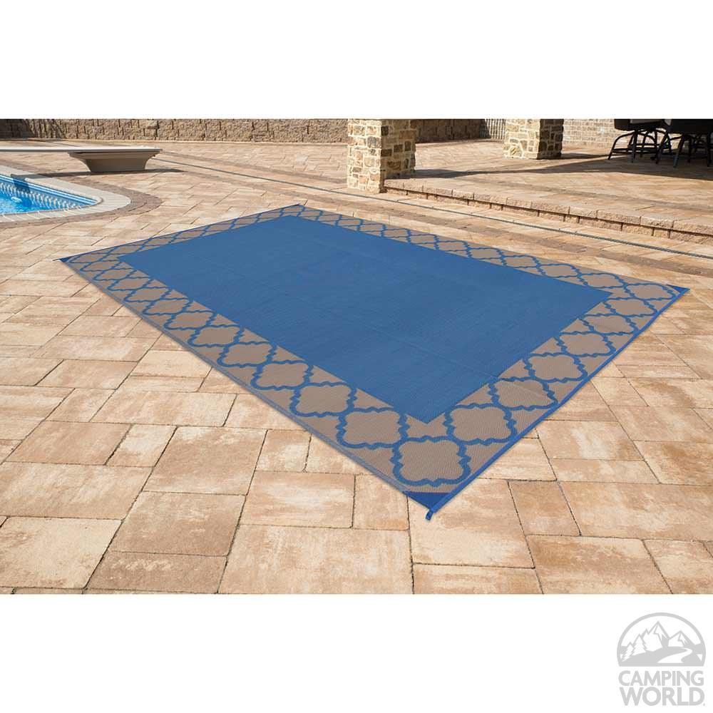 Reversible trellis design patio mat 9 x 12 navy direcsource reversible trellis design patio mat 9 x 12 navy dailygadgetfo Choice Image