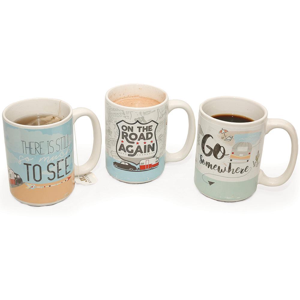 go somewhere ceramic coffee mug 15 oz zak designs inc 6741 1590