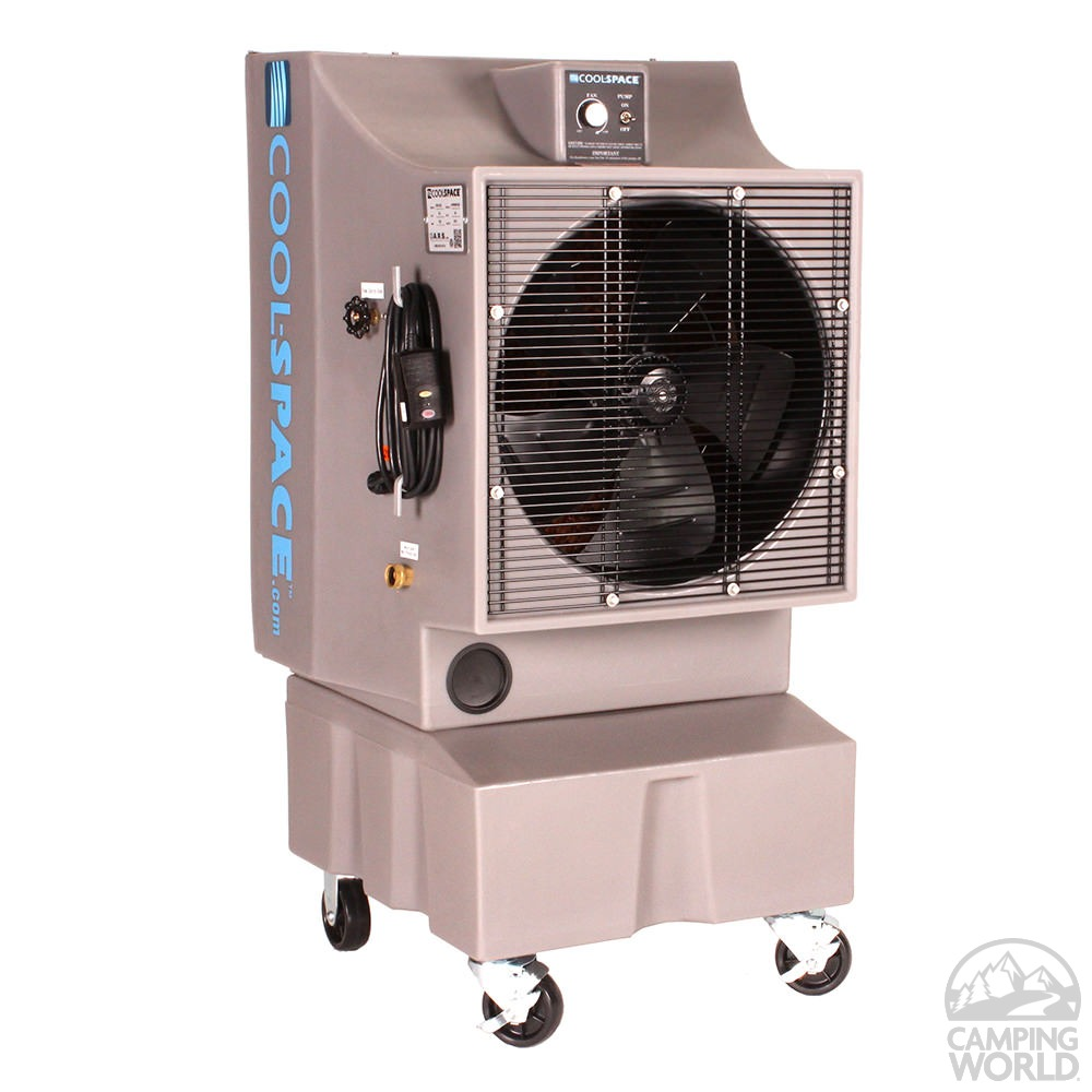 coolspace glacier variable speed direct drive portable evaporative cooler 18