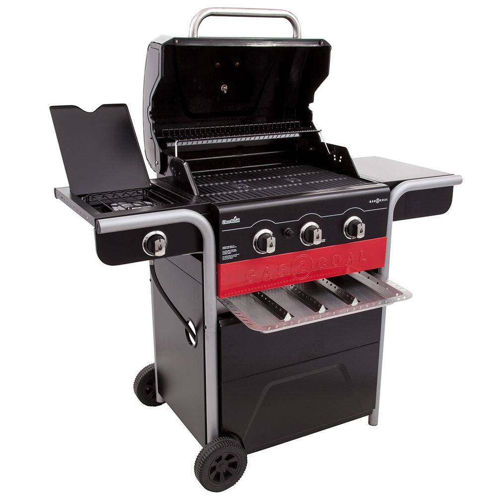 ... Char Broil Gas2Coal Charcoal And 3 Burner Gas Grill, 40,000 BTU ...
