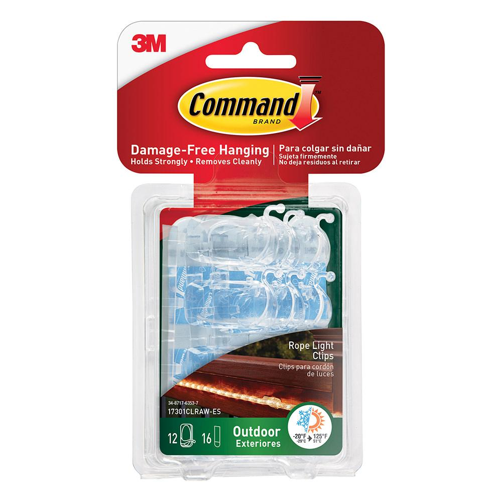 Command Outdoor Rope Light Clips 3m 17301clr Awes