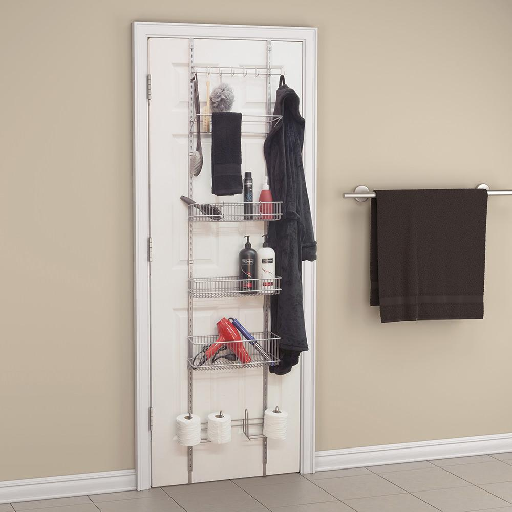 over the door bathroom organizer panacea products 410211 bathroom storage camping world. Black Bedroom Furniture Sets. Home Design Ideas