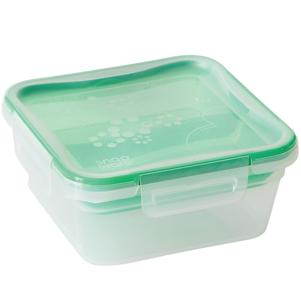 ... Snapware Total Sol Plastic, 5.4 Cups, Square With Divided Tray ...