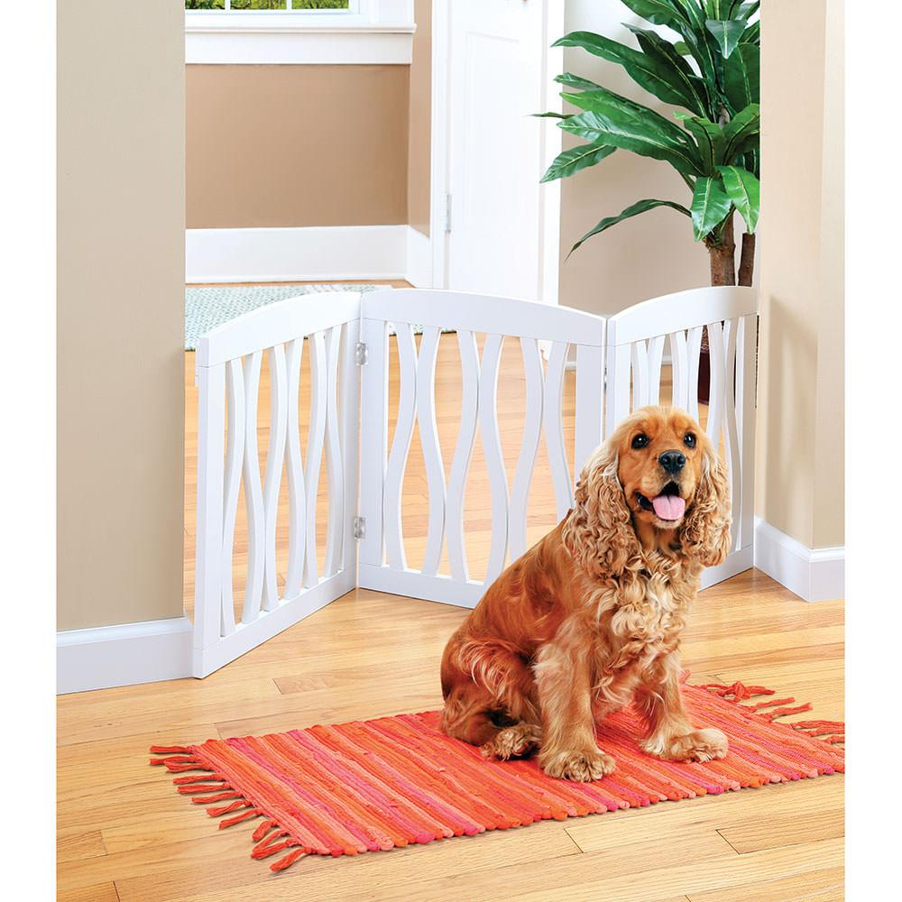cascading wood 3section pet gate