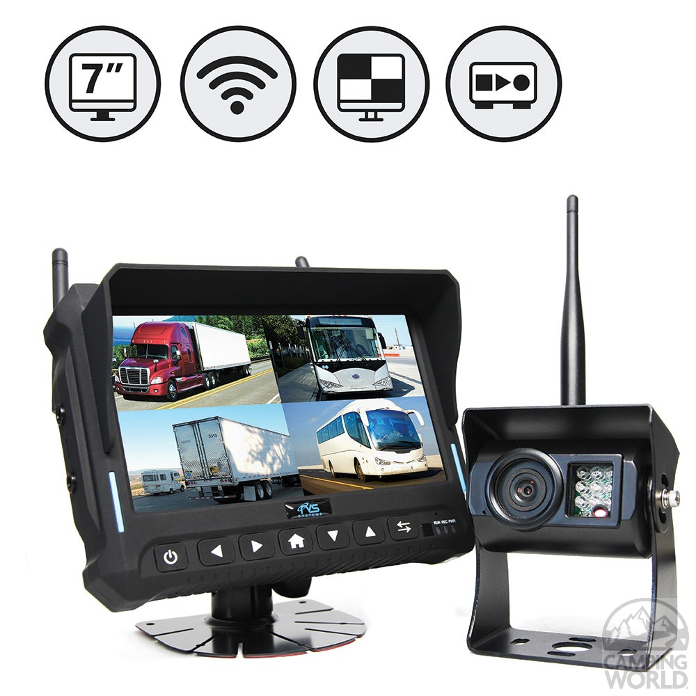 rvs quad view wireless backup camera system ebay. Black Bedroom Furniture Sets. Home Design Ideas