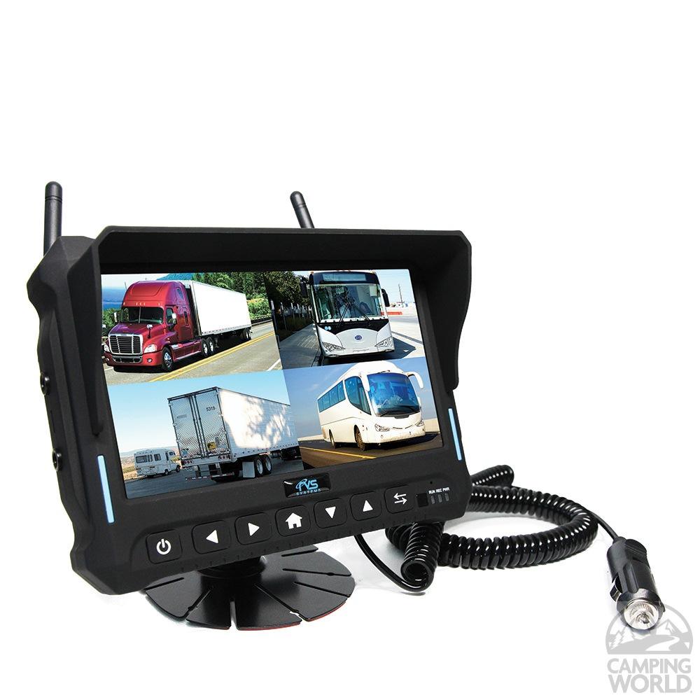 Rvs Quad View Wireless Backup Camera System Rear View