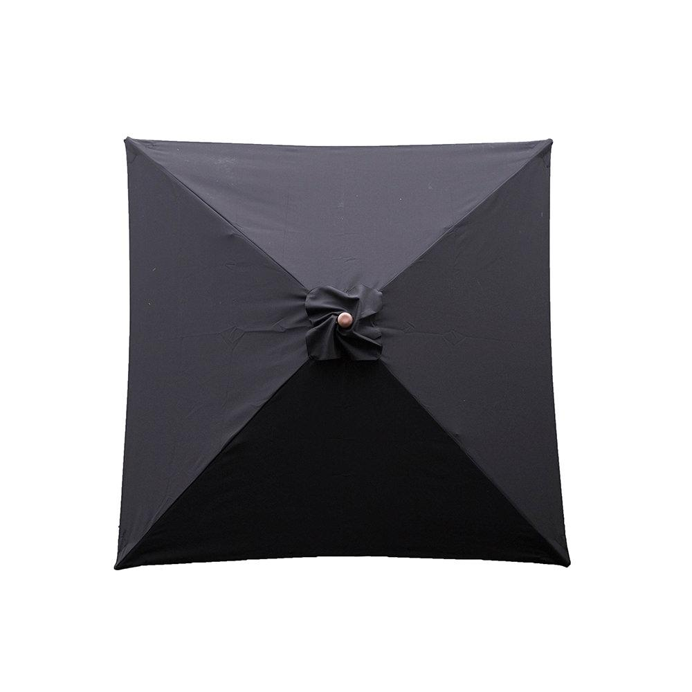 classic wood square patio umbrella  black '  heininger   -  classic wood square patio umbrella  black