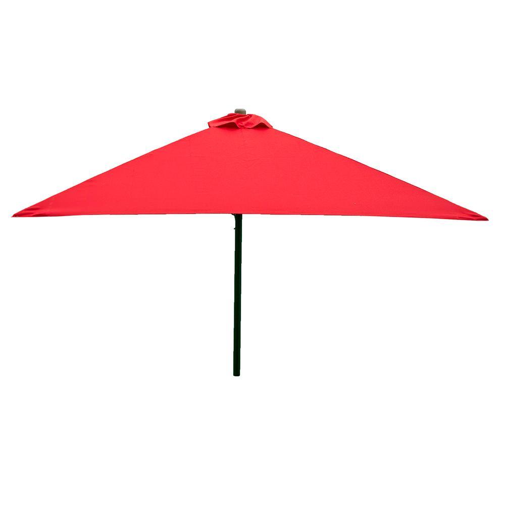 ... Classic Wood Square Patio Umbrella   Red, 6.5 ...