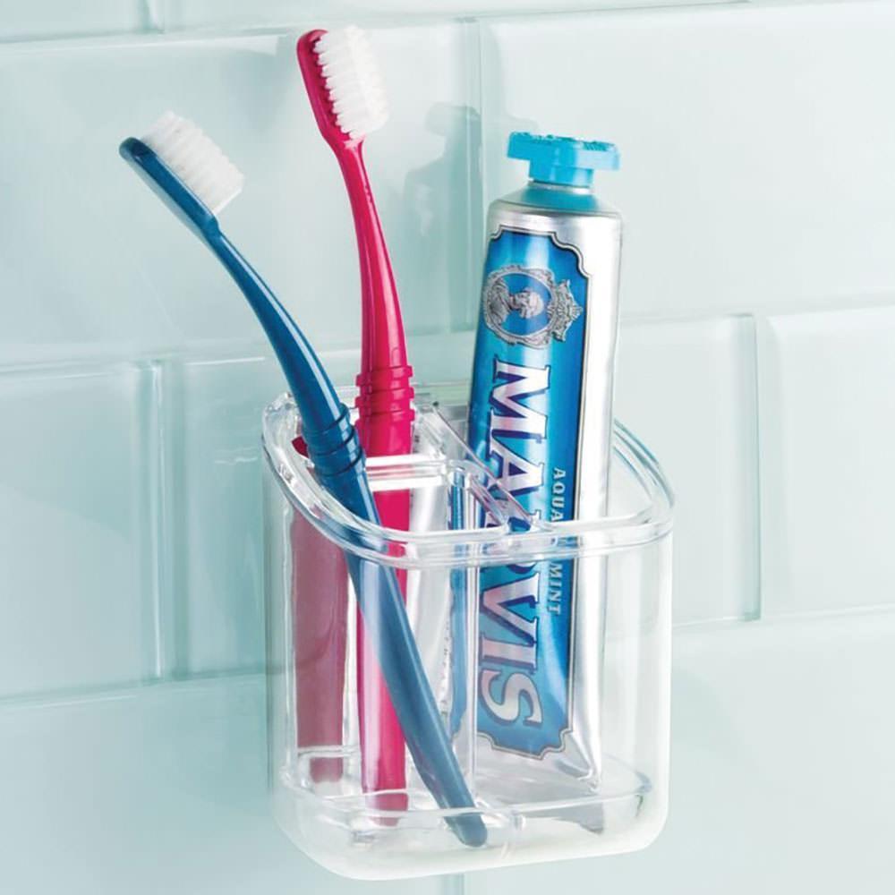 AFFIXX Clear Toothbrush & Toothpaste Holder - Interdesign 21810 ...