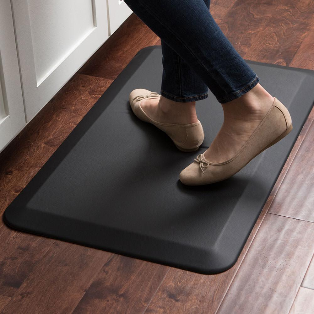 ... NewLife By GelPro Designer Comfort Kitchen Mat, 20 X 32, Leather Grain  Jet