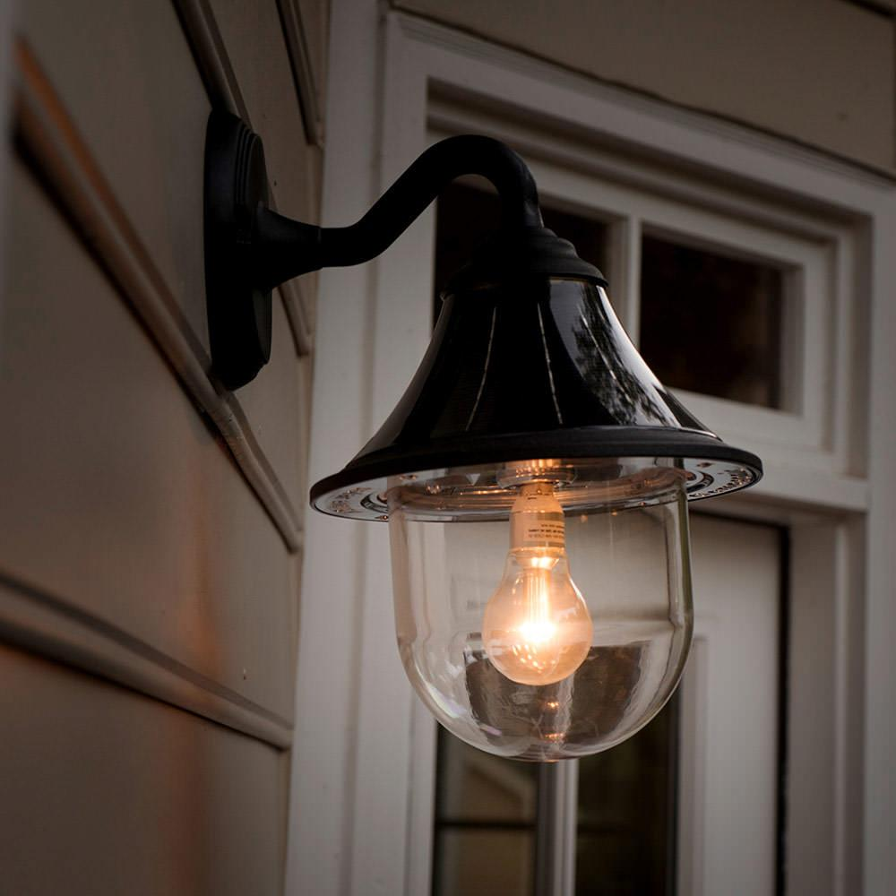 Orion solar light with gs solar led light bulb wall mount black orion solar light with gs solar led light bulb wall mount black finish aloadofball Image collections