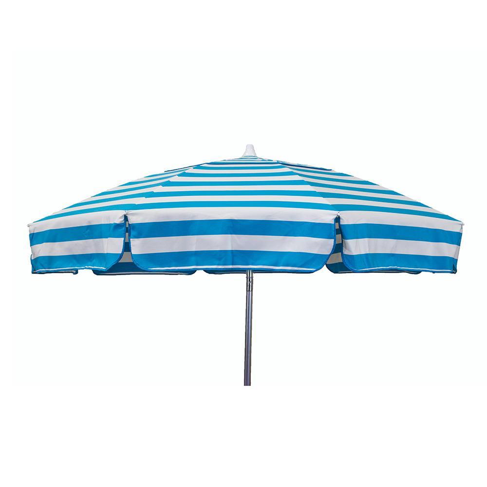 ... Italian 6 Ft Patio Umbrella Acrylic Stripes Turquoise And White ...