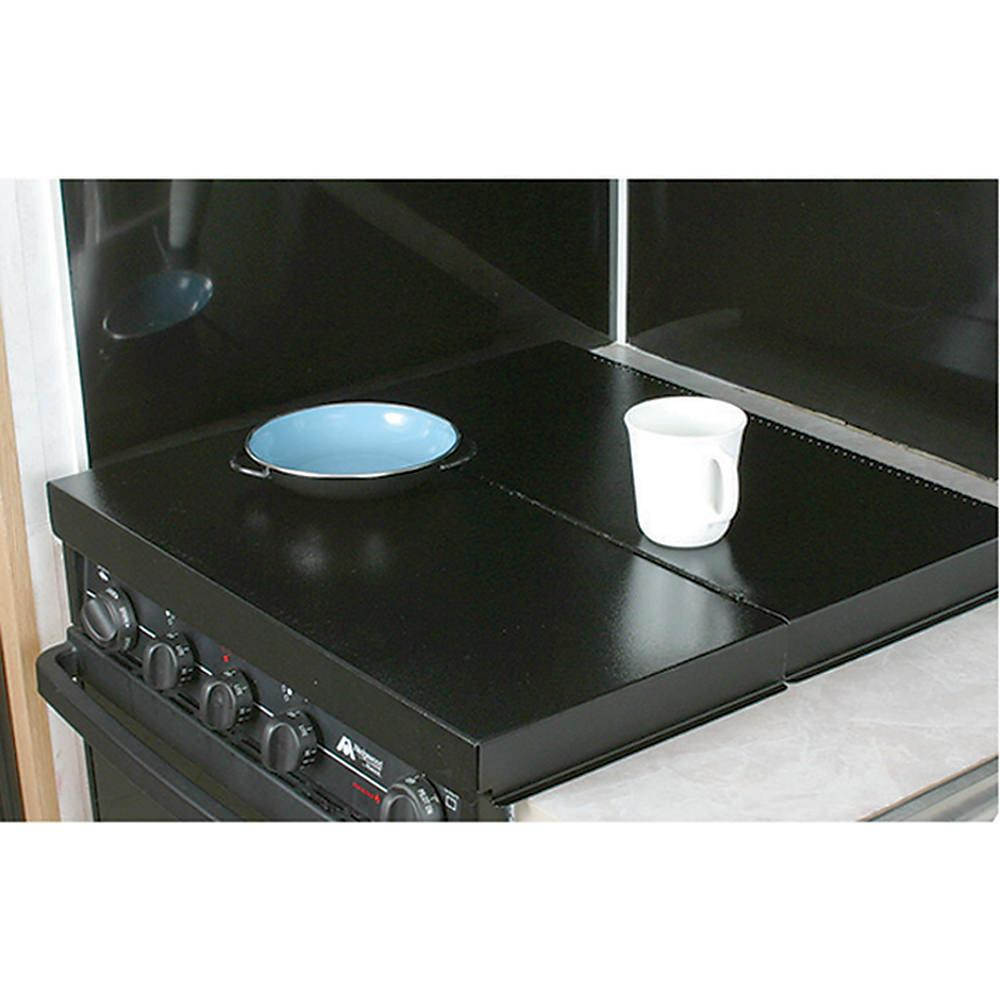 ... Camco RV Universal Fit Black Stove Top Cover