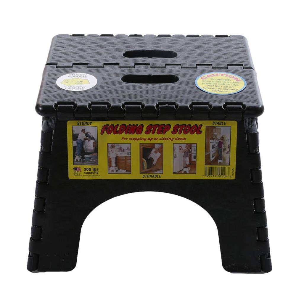 ... E-Z Foldz Folding Step Stool 9 - Black ...  sc 1 st  C&ing World & E-Z Foldz Folding Step Stool 9