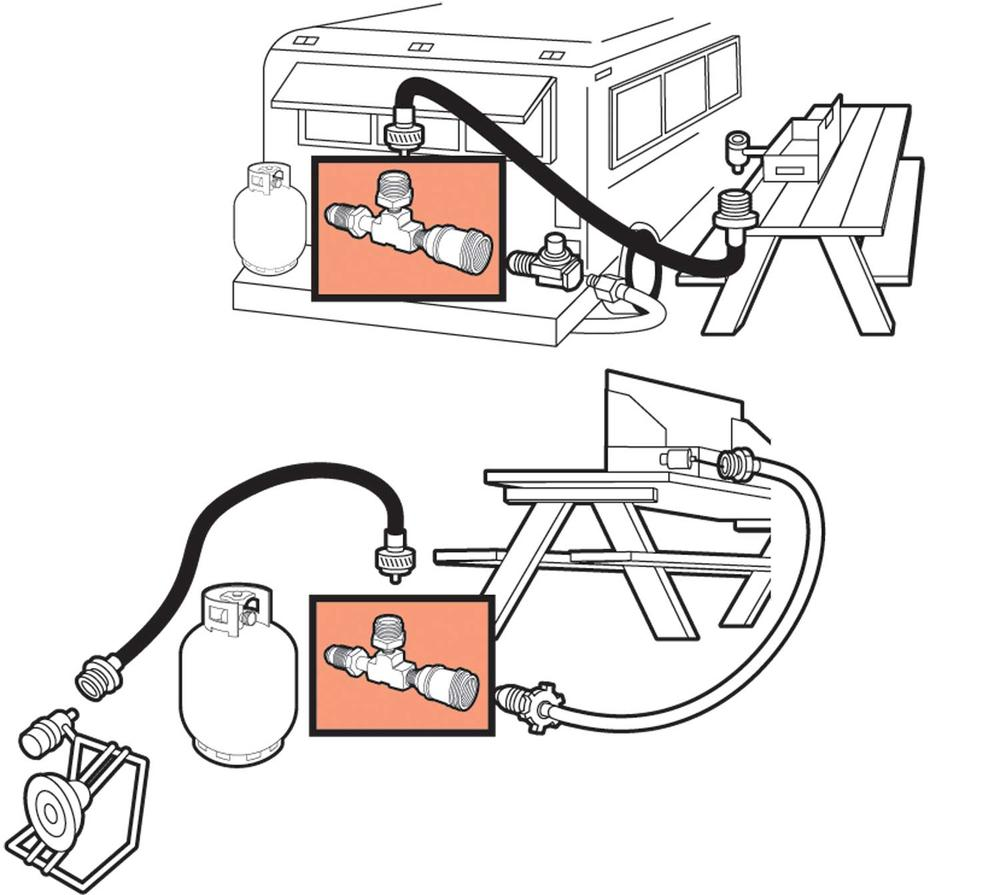 Propane    Adapter Tee  Mr Heater F273751     Propane