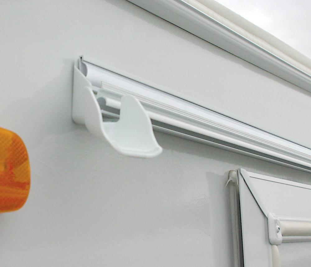 RV Gutter Spouts With Extensions 4pk Front View