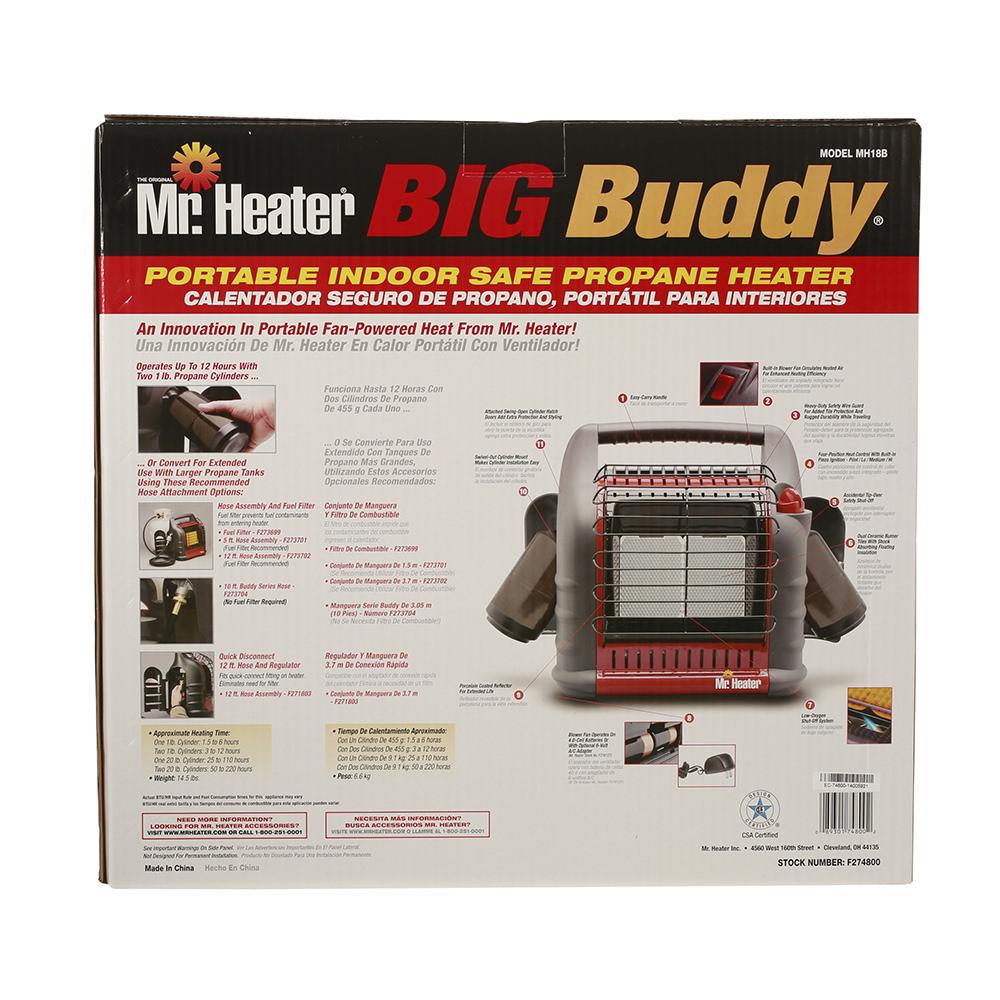 Big Buddy Heater Mr Heater F274800 Portable Heaters