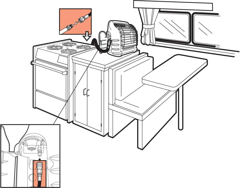 diagram of parts a propane regulator