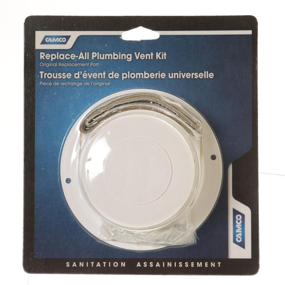 replace all plumbing vent kit polar white camco 40033 fan and