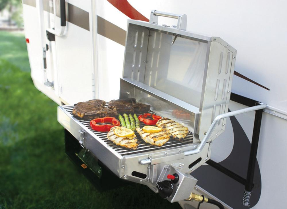 Stainless Steel Mountable Grill Camco Rv 57305 Gas Grills