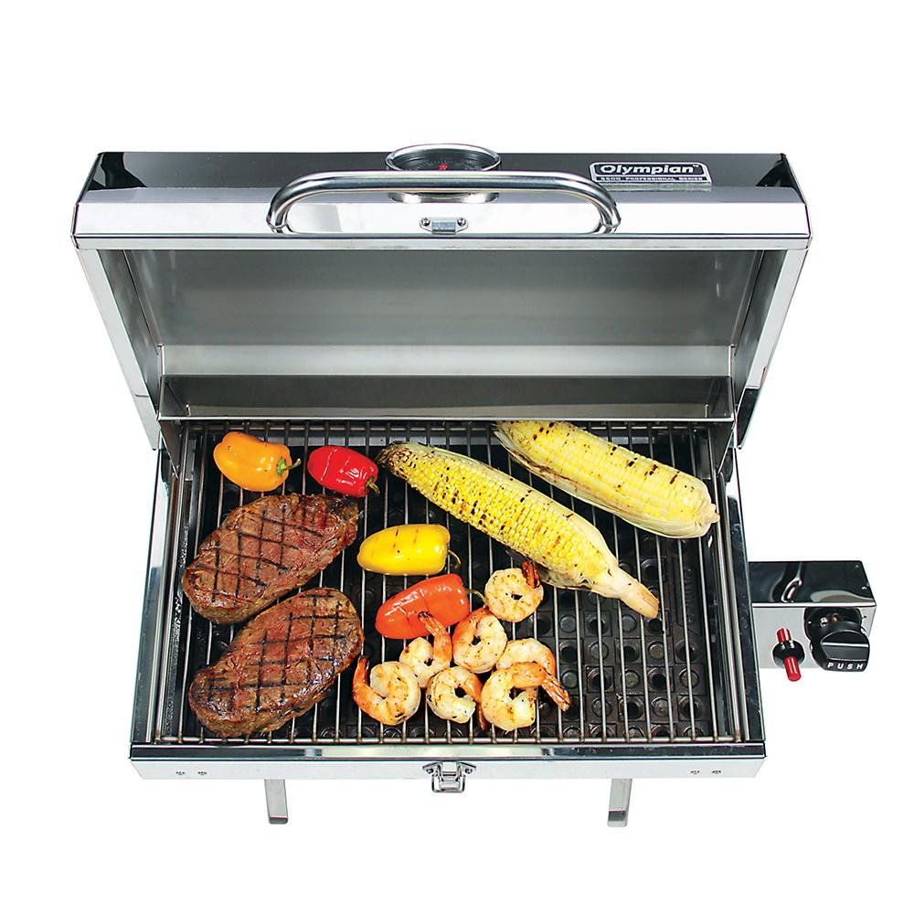 stainless steel mountable grill camco 57305 gas grills camping world. Black Bedroom Furniture Sets. Home Design Ideas
