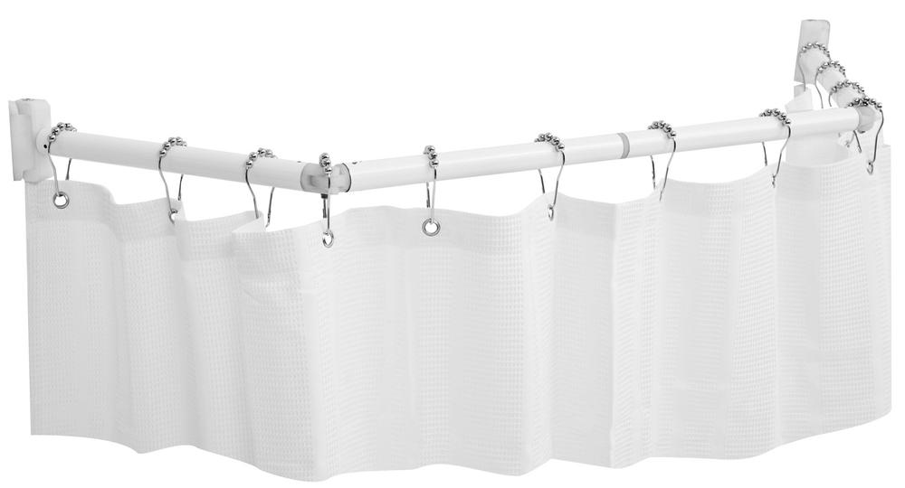 Curtain Shower Rod Part - 29: ... Extend-A-Shower Expanding Shower Rod - White Finish ...