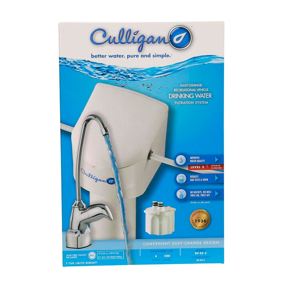culligan rvez3 undersink water filter kit with faucet - Undersink Water Filter