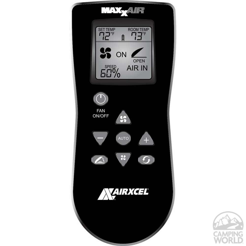 Maxxfan Deluxe Remote Control Rv Ventilator System White Lid