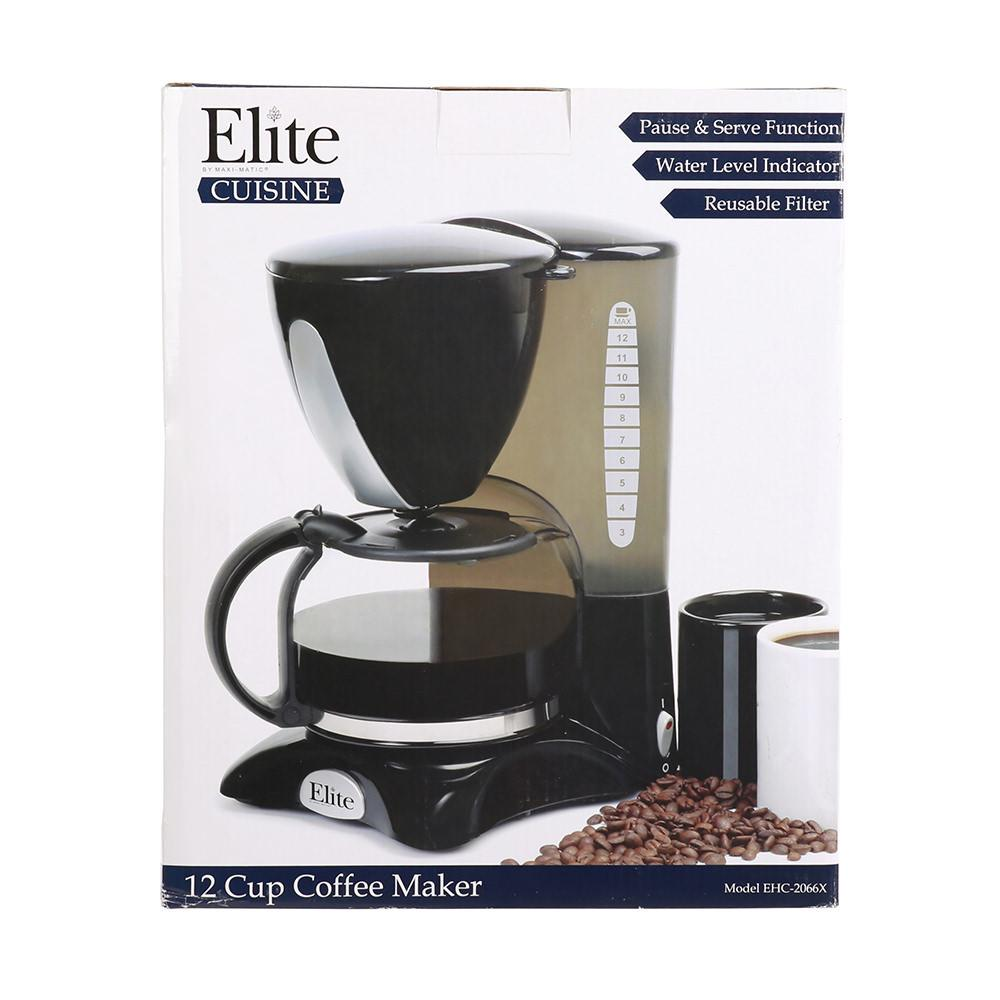 K Cup Coffee Maker For Rv : Elite 12-cup Coffee Maker - Maxi-Matic EHC-2066X - Coffee Makers - Camping World