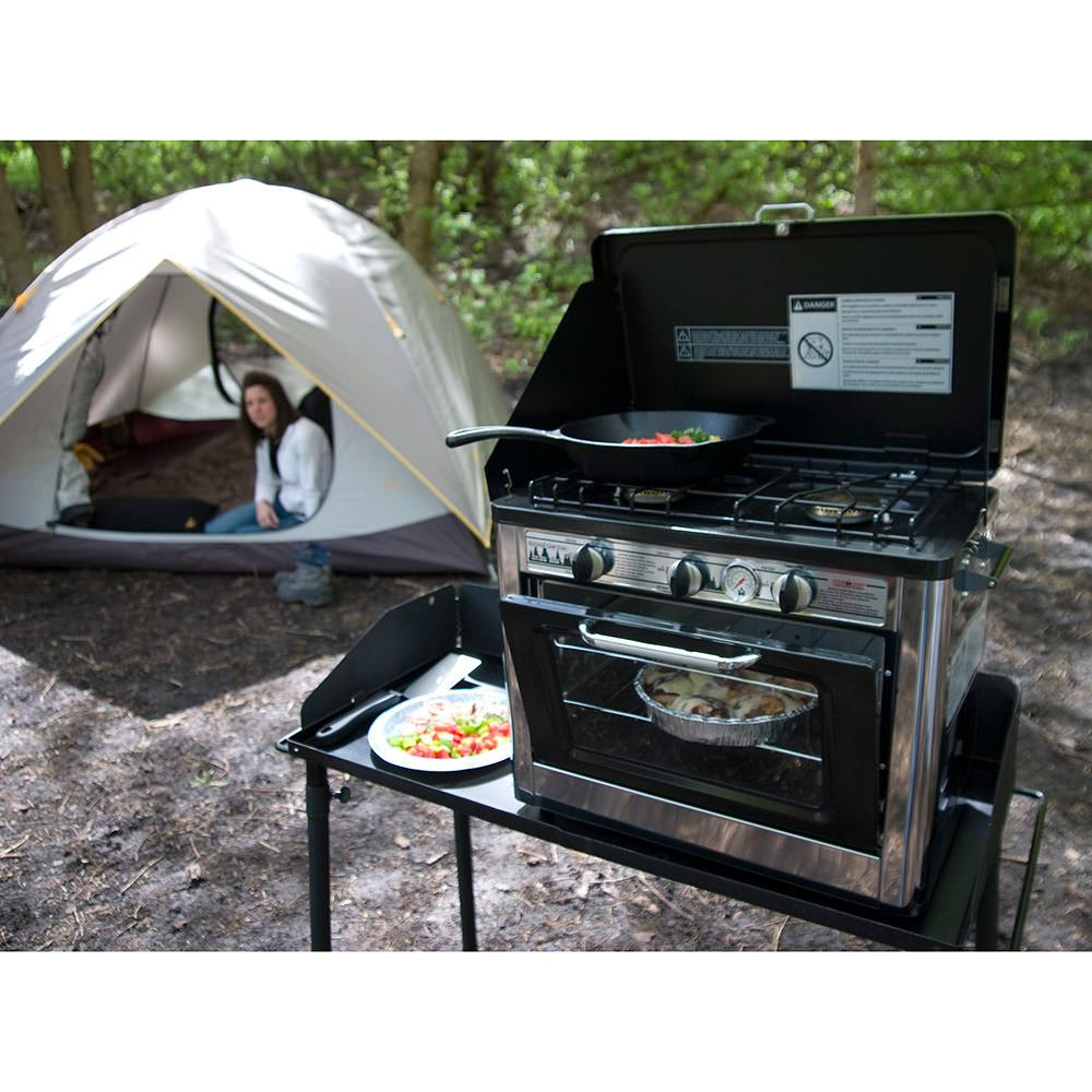 Outdoor Camp Oven 2 Burner Range and Stove - Camp Chef COVEN ...