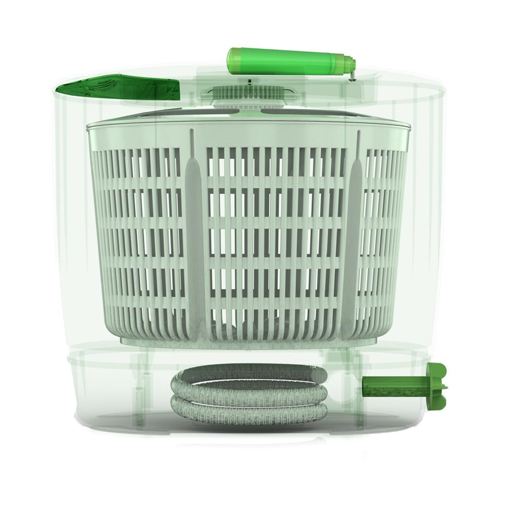 washing greens in washing machine