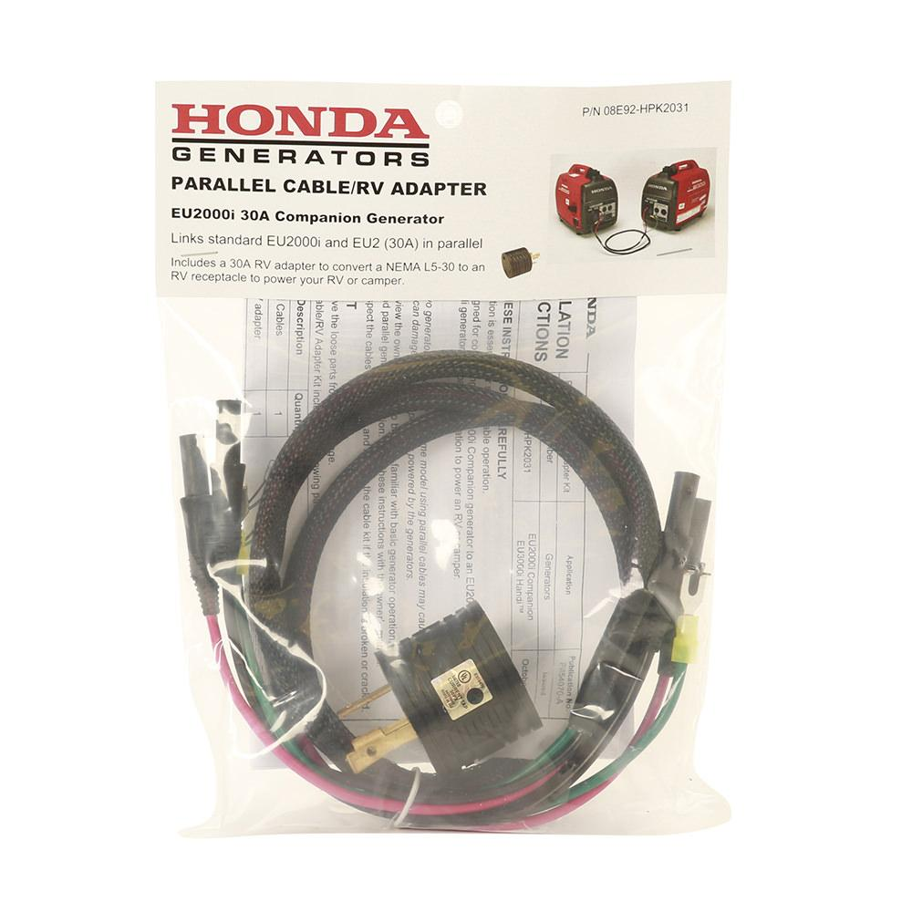Parallel Cables And 30 Amp Rv Adapter Kit Honda P85008e92 Hpk2031