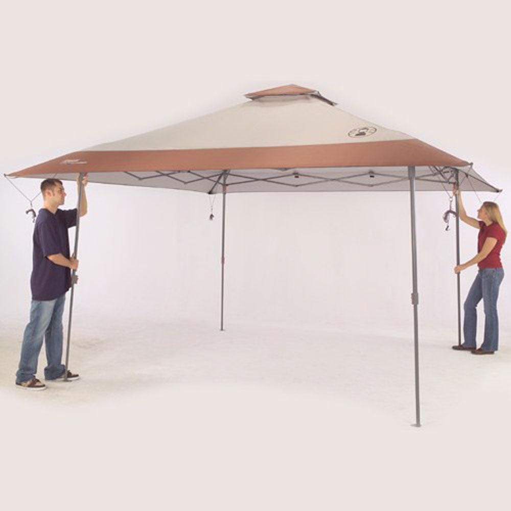 Instant Canopy 13 Ft X 13 Ft Cream Brown Coleman