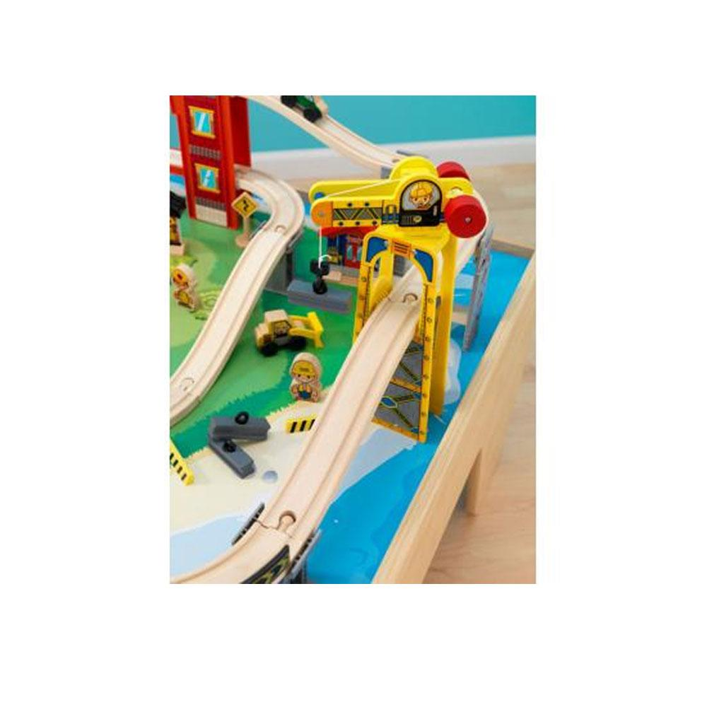 Metropolis train table and set kidkraft 17935 kids for 100 piece mountain train set and wooden activity table