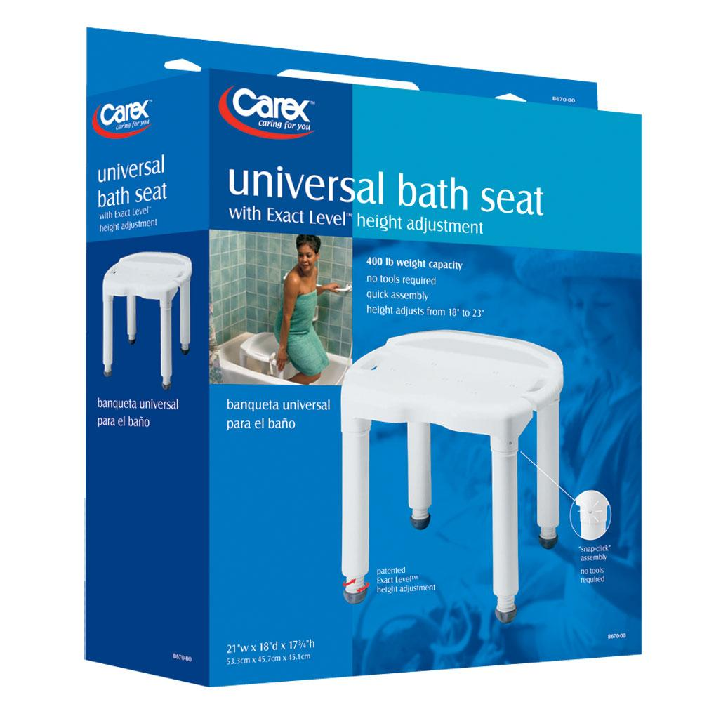 Universal Bath Bench without Back - Carex Health Brands B670C0 ...