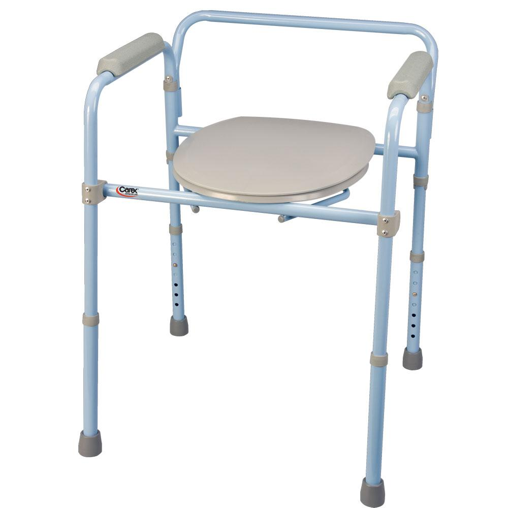 deluxe folding commode carex health brands b34100. Black Bedroom Furniture Sets. Home Design Ideas