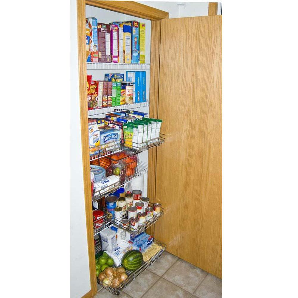12 Quot X 12 Quot Expandable Chrome Plated Pantry Pull Out Shelf