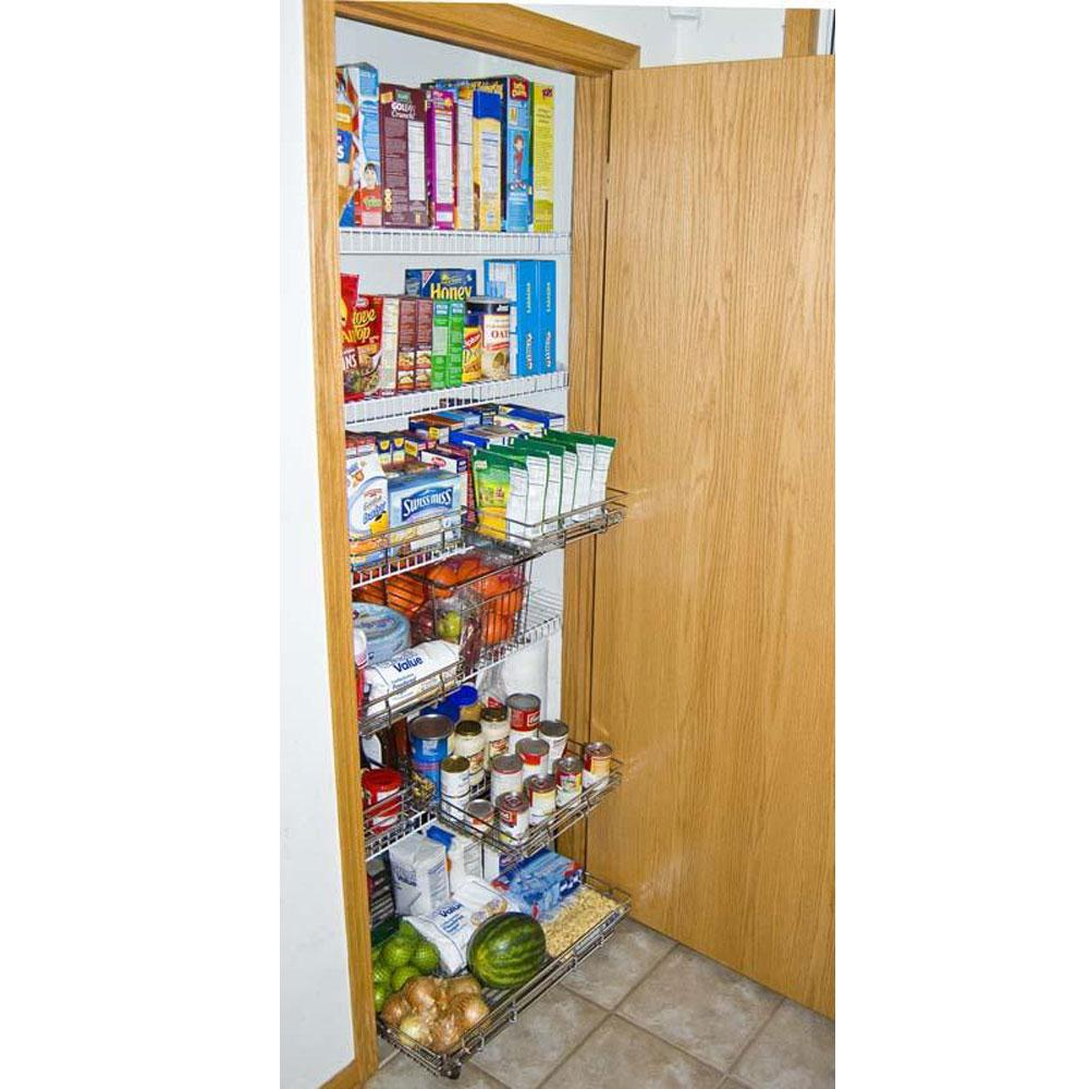 ... 18 X 16 Expandable Kitchen Pantry Roll Out With Wheels