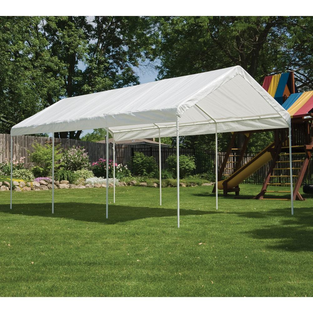 Instant Canopy 10x20 : Max ap leg canopy white shelterlogic