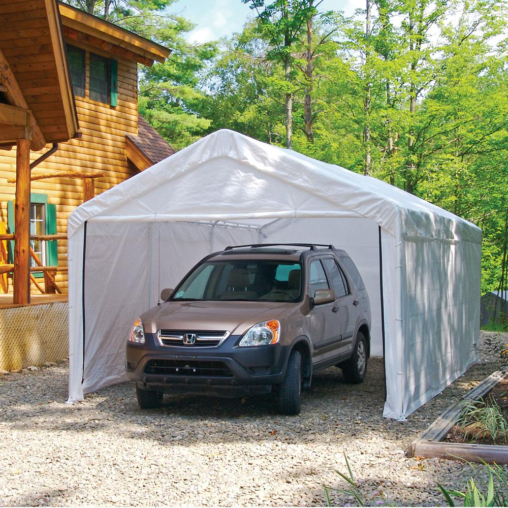 Garage Canopy With Enclosure Walls : Canopy enclosure kit for quot frame shelterlogic