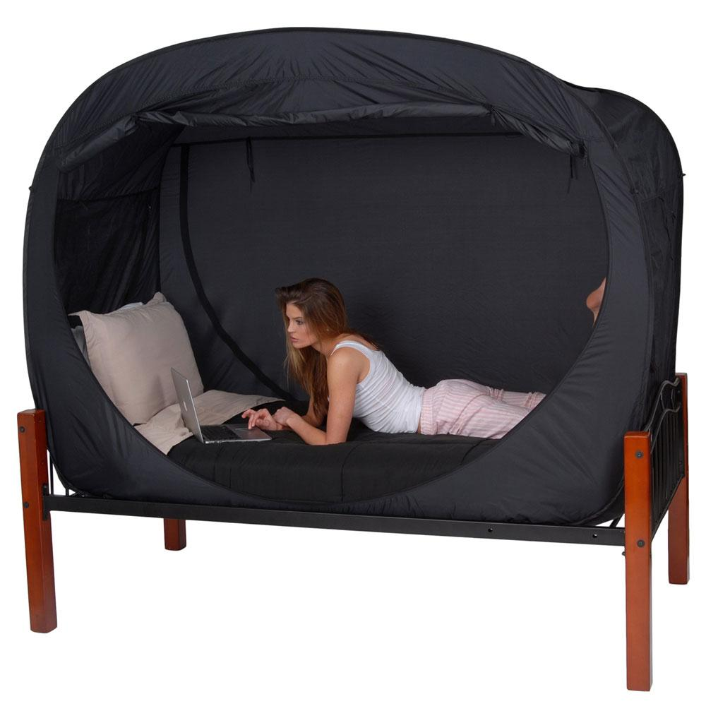 Privacy Pop Bed Tent - Twin - Privacy Pop PP-BLACK-TWIN ...