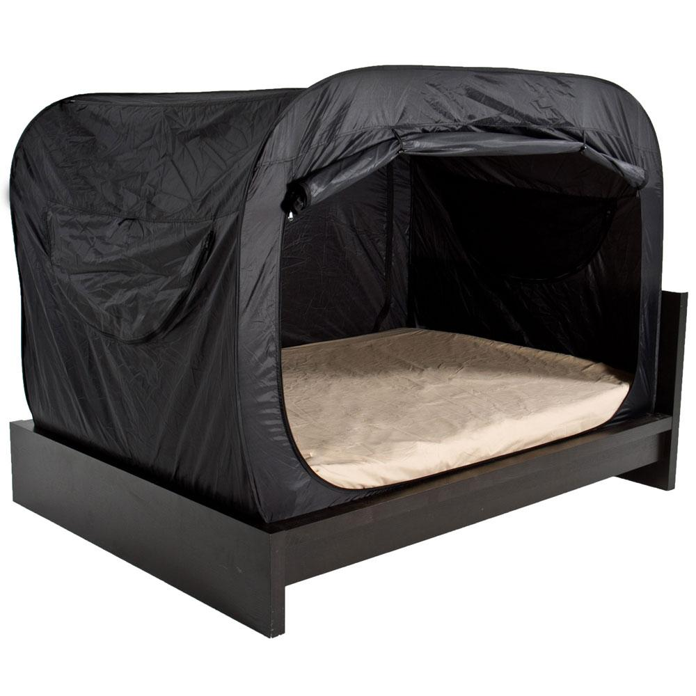 Privacy Pop Tent For Full Size Bunk Beds Black
