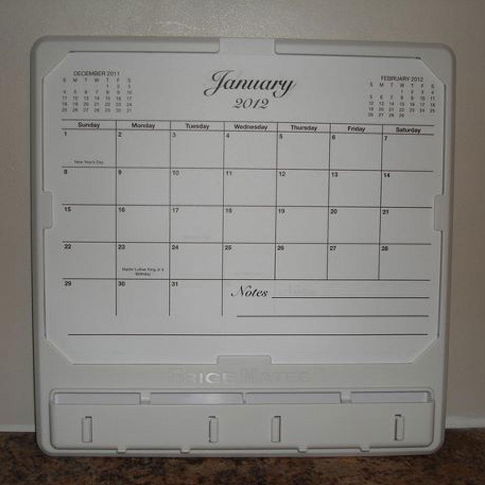 World Calendar Organization : Ultimate organizer and calendar white frigemates