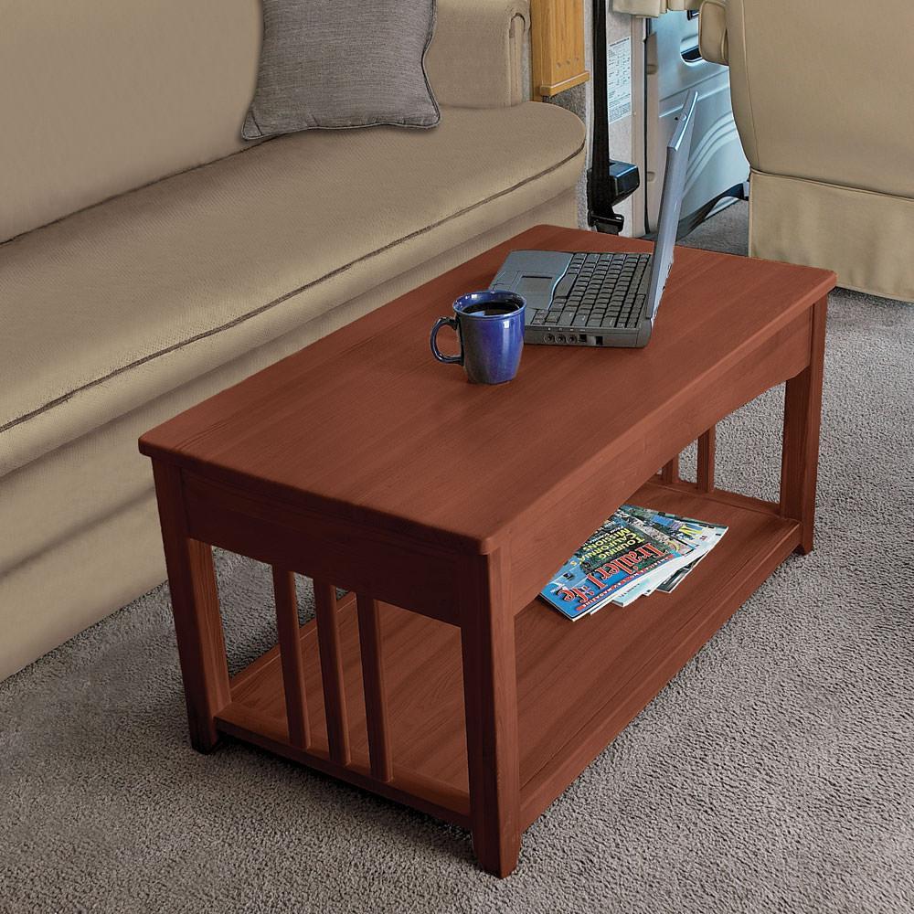 Swing Table swing-up coffee table - walnut - direcsource ltd d32-0002