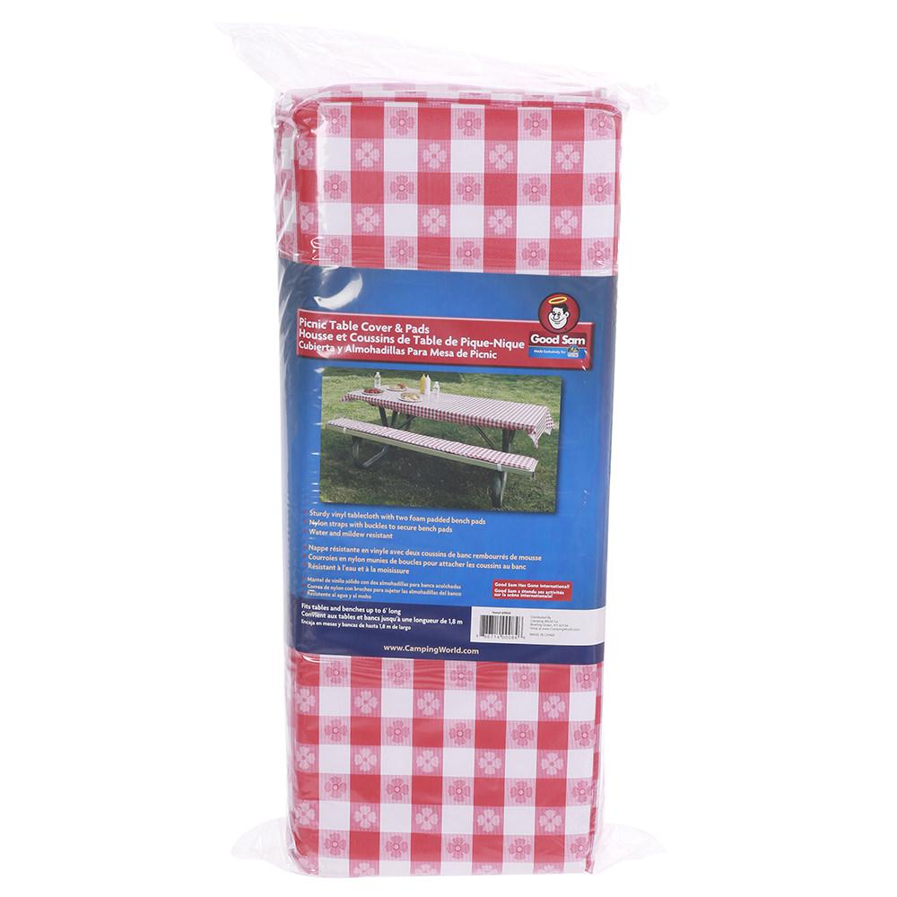 Table Cover & Padded Bench Cushions - Direcsource Ltd 69050 - Picnic ...